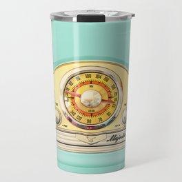 Blue teal Classic Old vintage Radio Travel Mug