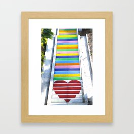 Micheltorena Stairs Framed Art Print