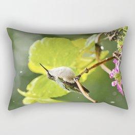 Hummingbird Shower Rectangular Pillow