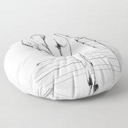 Le retour (bw) Floor Pillow