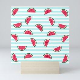 Watermelon pattern Mini Art Print