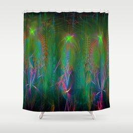 Fractal Angels III Shower Curtain