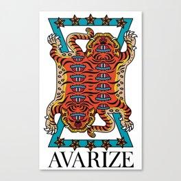 AVZ-WH-TIGER Canvas Print