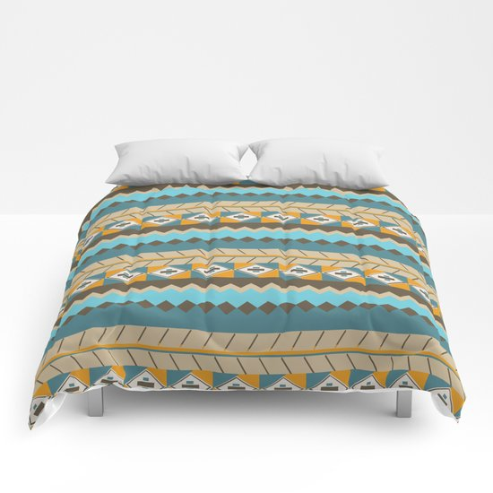 navajo pattern 3 Comforters