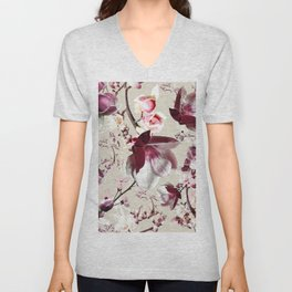 Magnolia cherry blossum Unisex V-Neck