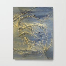Flowing blue Metal Print