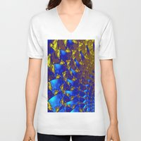 fractal V-neck T-shirts featuring Fractal. by Assiyam