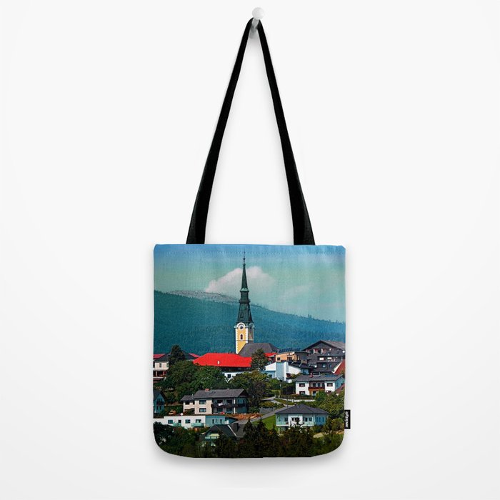 A village in autumn season Tote Bag