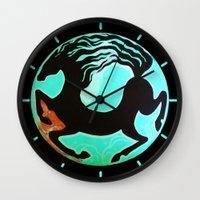 horse Wall Clocks featuring Horse by Abundance
