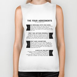 The Four Agreements by don Miguel Ruiz Biker Tank