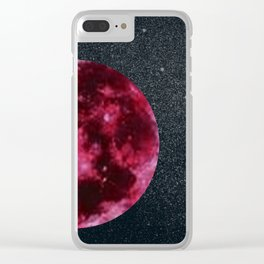 blood moon and star dust Clear iPhone Case