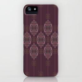 Vintage Burgundy horizontal iPhone Case