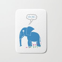 Sad Elephant Bath Mat