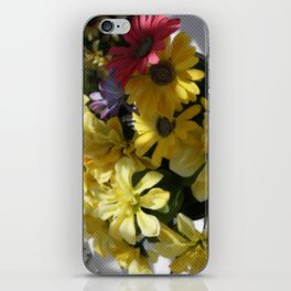 WHITTLE YELLOW BASKET OF FLOWERS iPhone Skin