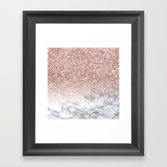 Sparkle - Glittery Rose Gold Marble by naturemagick