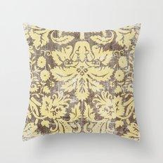 Ornate Vintage Distress Design 4 Throw Pillow