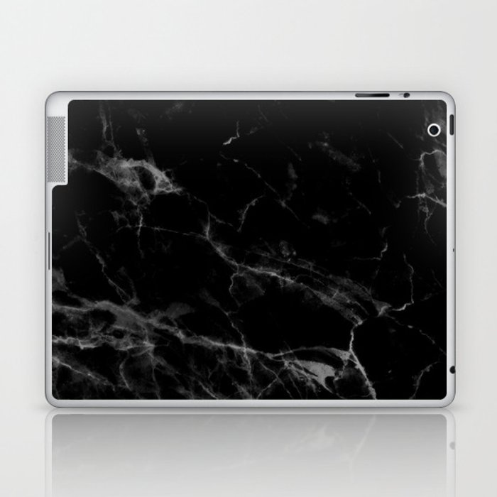 Black Marble Laptop & iPad Skin