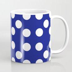 Dots - Blue / White Mug