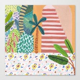 Jungle Staircase Canvas Print