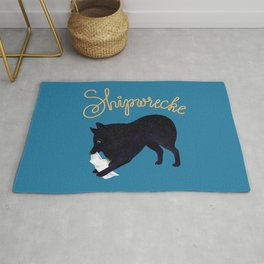 Shipwrecke (Blue and Beige) Rug