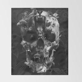 Kingdom Skull B&W Throw Blanket