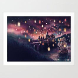 Lights for the Lost Princess Art Print