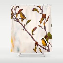 Two Little Birds Shower Curtain