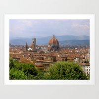 florence Art Prints featuring Florence  by floridagurl
