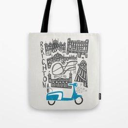 Brighton Cityscape Tote Bag