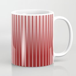 Red Variegated Reverse Stripe Vertical Coffee Mug