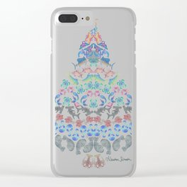 Marine Christmas Tree 3 Clear iPhone Case