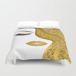 Gold gitte woman Duvet Cover