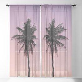 Summer Palms Sheer Curtain