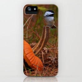A Chickadee Thanksgiving iPhone Case