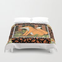 foxes Duvet Covers featuring Foxes by Jack Teagle