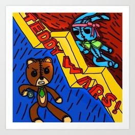 Teddy wars Art Print