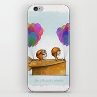 pixar iPhone & iPod Skins featuring UP Pixar — Love is the greatest adventure  by Ciara Panacchia
