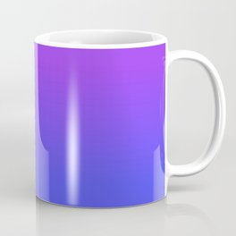 Neon Blue and Bright Neon Purpel Ombré Shade Color Fade Coffee Mug