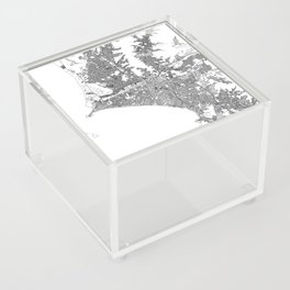 Lima White Map Acrylic Box