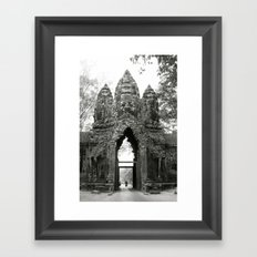 Mysterious buddhist khmer history in Cambodia Framed Art Print