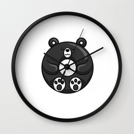 Famosa Bear Is A Cute Donut Wall Clock