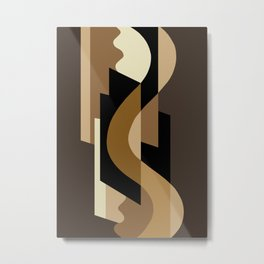 SUISSE - Art Deco Modern: CAFE JAVA Metal Print