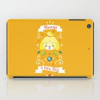 animal crossing iPad Cases featuring Animal Crossing: Isabelle by Anth Rodi