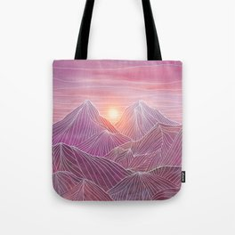 Lines in the mountains 02 Tote Bag