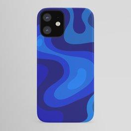 Multicolor Blue Liquid Abstract Design iPhone Case