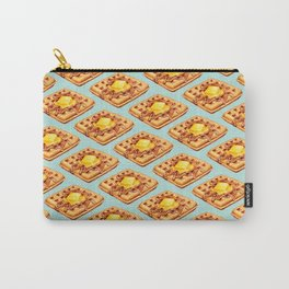 Waffle Pattern Carry-All Pouch