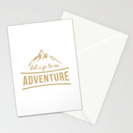 Let's go to an adventure Stationery Cards