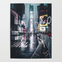 Neon Snowstorm Poster