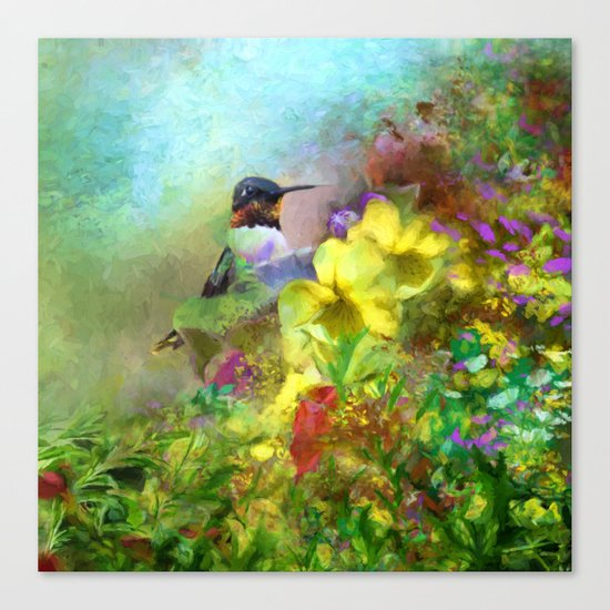 Hummingbird Bouquet Canvas Print