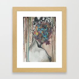 Thoughtful Woman Framed Art Print